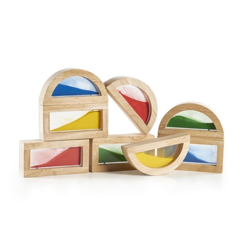Guidecraft Rainbow Blocks – Sand