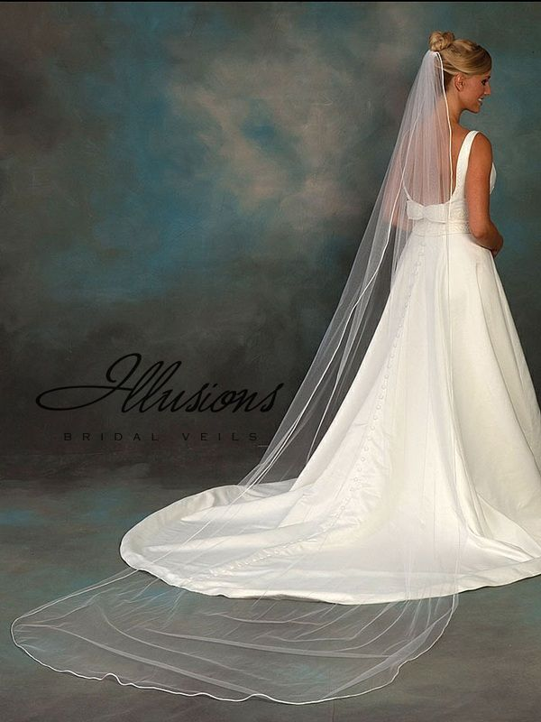 Illusions Bridal Rattail Edge Veil 5-1201-RT