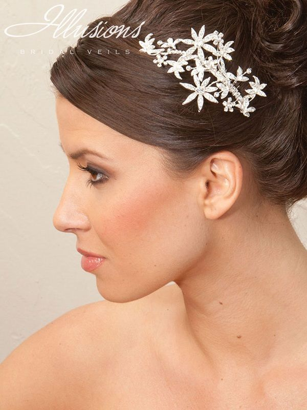 Illusions Bridal Hair Accessories 8247: Silver Flower