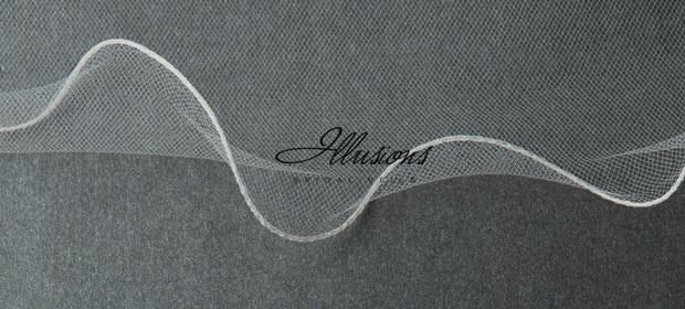 Illusions Bridal Filament Edge Veil 7-361-F: Rhinestone Accent