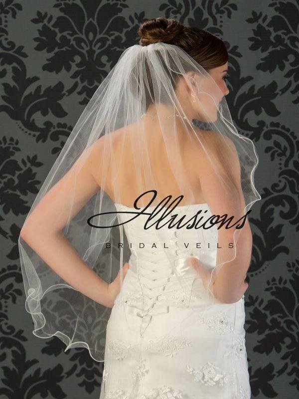 Illusions Bridal Filament Edge Veil 7-361-F