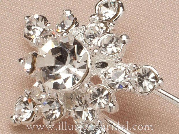 Illusions Bridal Hair Accessories 3272: Silver