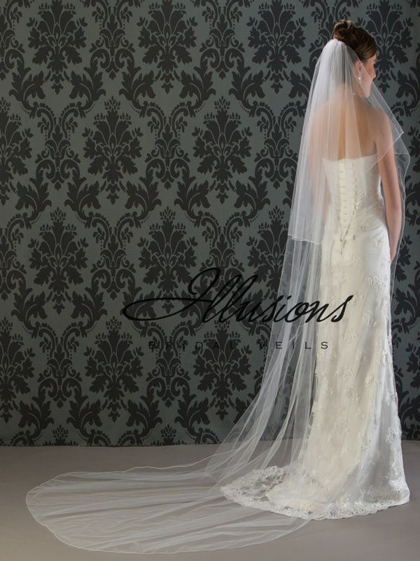 Illusions Bridal Corded Edge Veil C7-1082-C