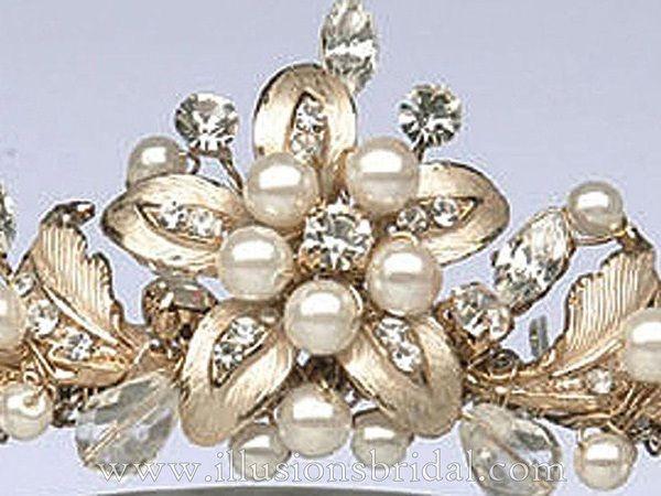 Illusions Bridal Tiara 2734: Gold