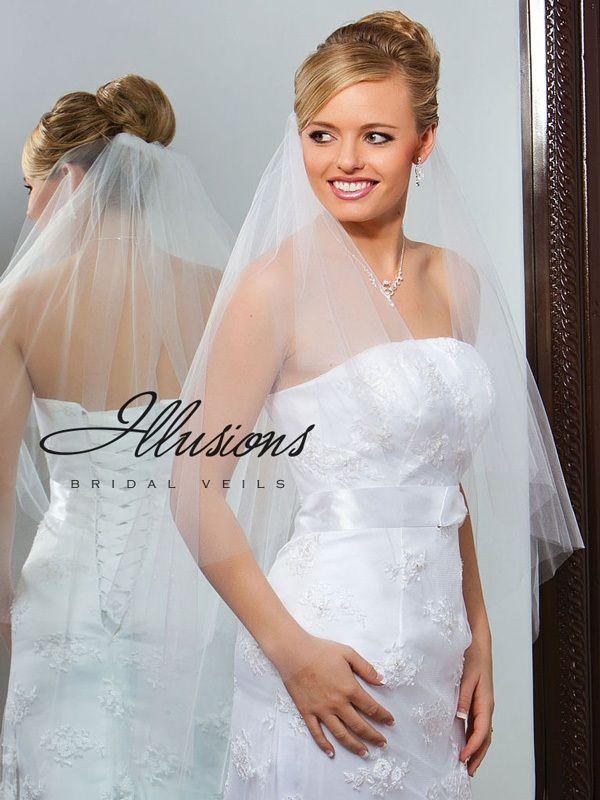 Illusions Bridal Cut Edge Veil C7-362-CT