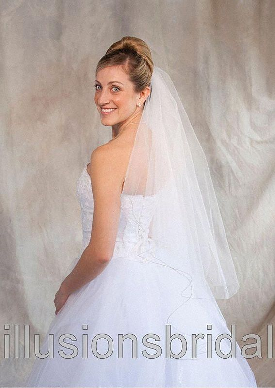 Illusions Bridal Colored Veils and Edges: Sage Corded Edge