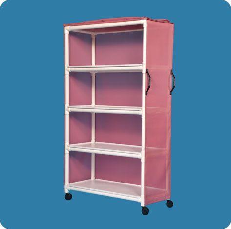 """Standard Line Linen Cart - Four Shelves - 45"""" X 20"""""""