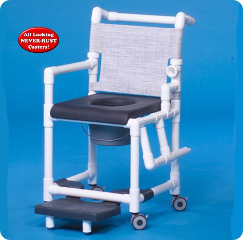 Deluxe Shower Chair Commode