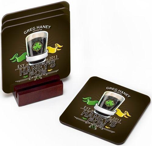 Personalized Irish Theme Coaster Set