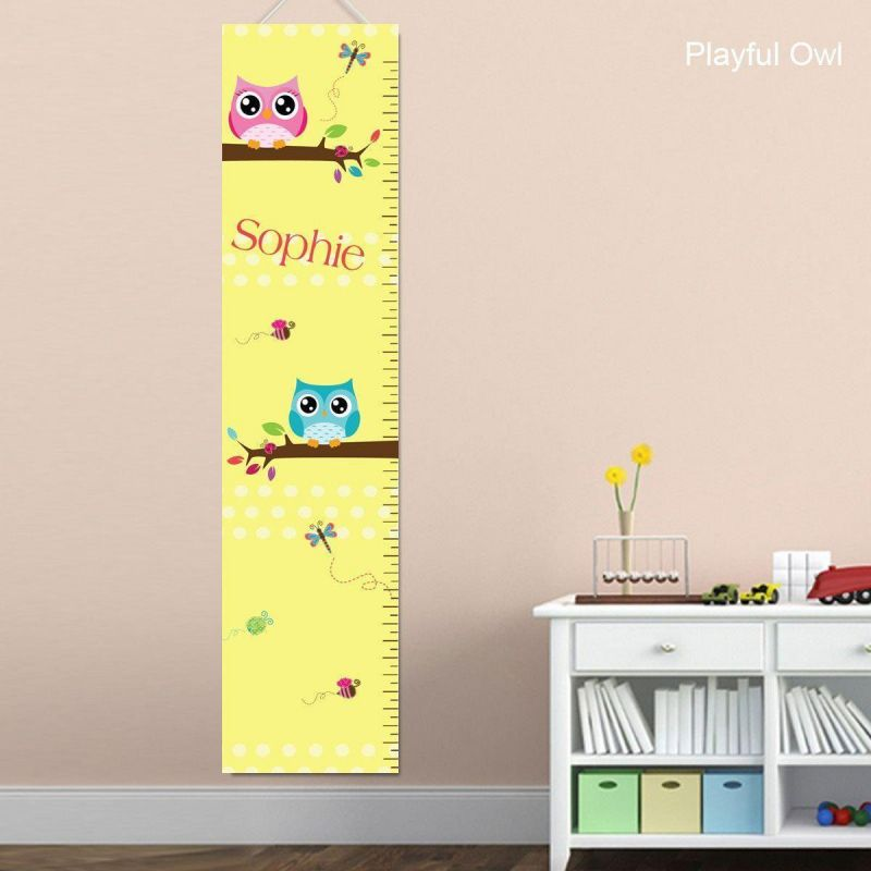 Personalized Growth Charts For Girls - Animal Themed