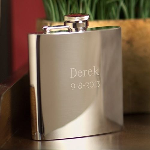 Personalized Flasks - Stainless Steel - High Polish - 7 Oz