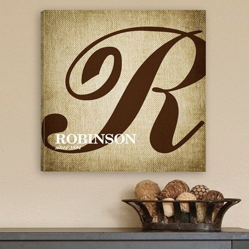 Family Initial Canvas Sign