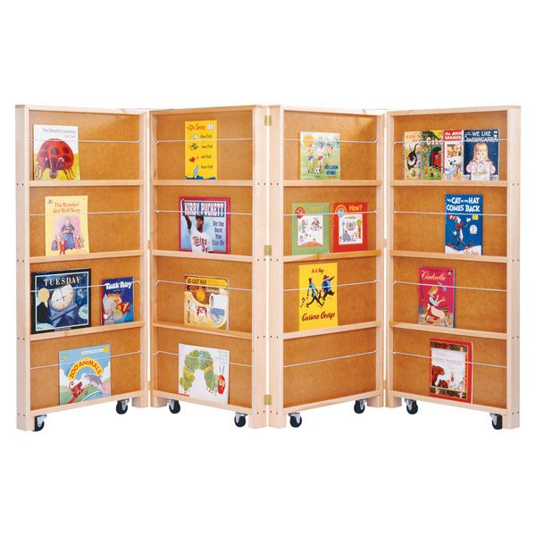 Jonti-Craft®Mobile Library Bookcase - 4 Sections