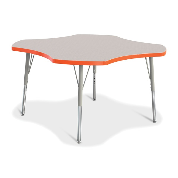 Berries®Four Leaf Activity Table, E-Height - Gray/Orange/Gray