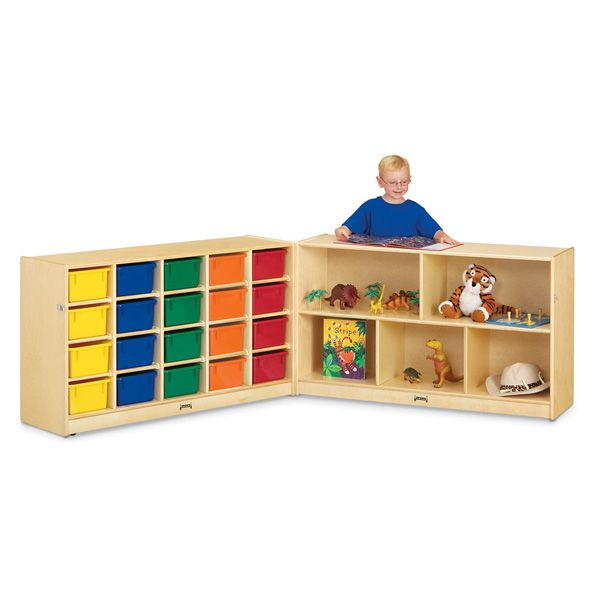 Jonti-Craft®20 Cubbie-Tray Fold-N-Lock - With Colored Trays
