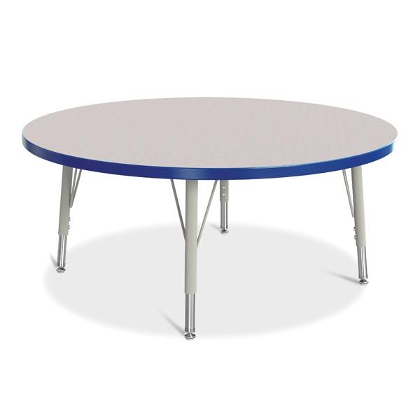 "Berries®Round Activity Table - 42"" Diameter, E-Height - Gray/Blue/Gray"