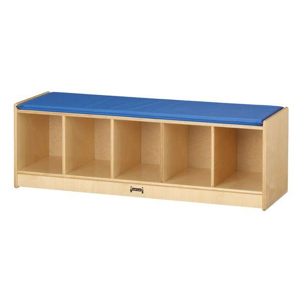 Jonti-Craft® 5 Section Bench Locker - Wheat
