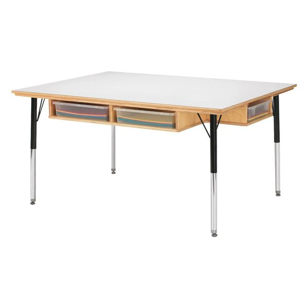 """Jonti-Craft® Table With Storage - 15"""" - 24"""" Ht - Without Paper-Tray"""