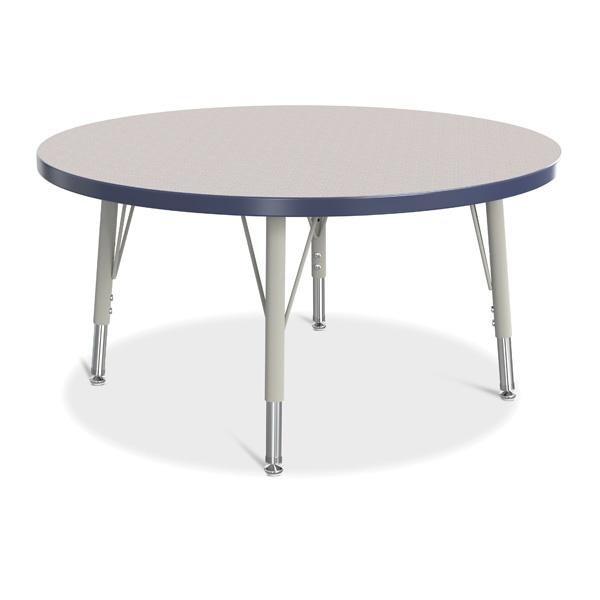 "Berries® Round Activity Table - 36"" Diameter, E-Height - Gray/Navy/Gray"