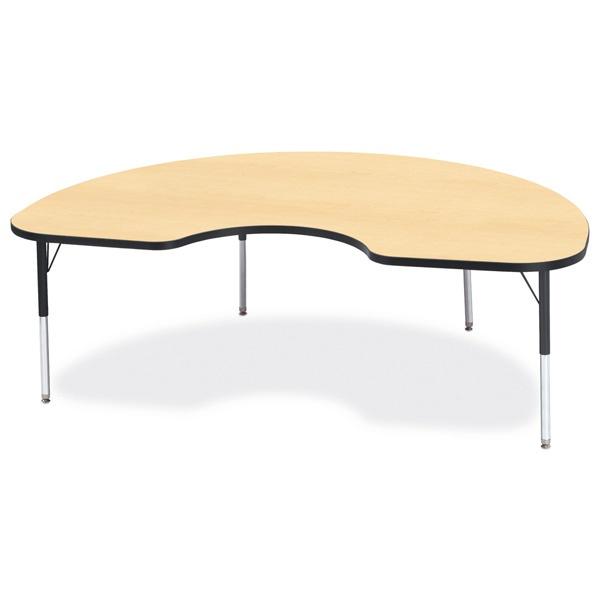 "Berries®Kidney Activity Table - 48"" X 72"", E-Height - Maple/Black/Black"