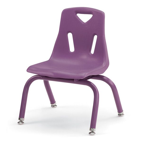 """Berries®Stacking Chairs With Powder-Coated Legs - 10"""" Ht - Set Of 6 - Blue"""