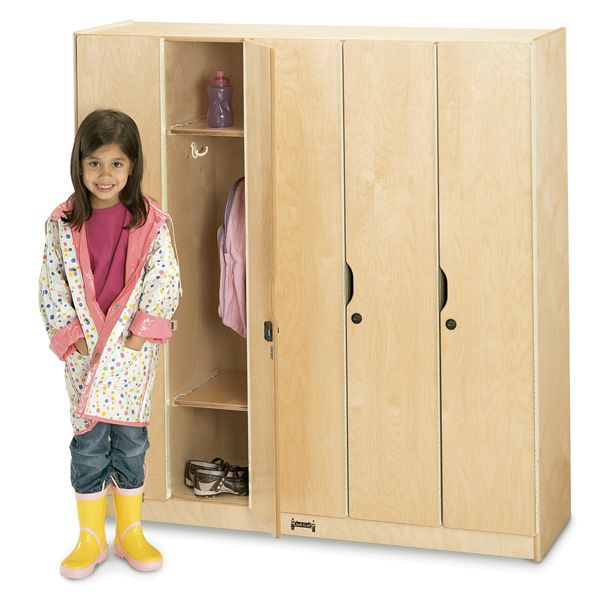 Jonti-Craft®5 Section Lockers With Doors