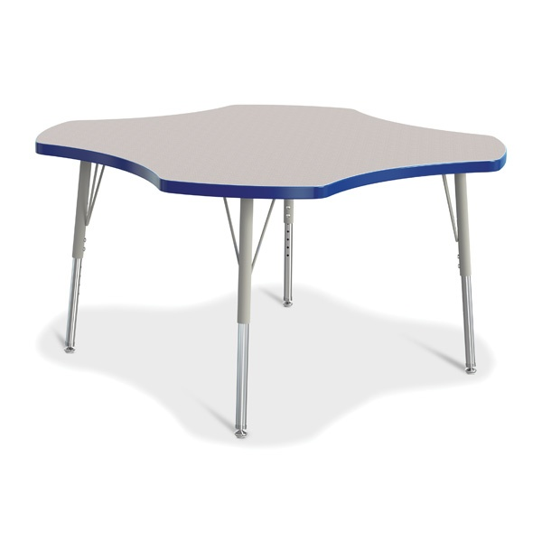 Berries®Four Leaf Activity Table, E-Height - Gray/Blue/Gray