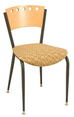 """KFI 3818A-US """"3800"""" Series Cafe Chair with Upholstered Seat: Without Arms"""