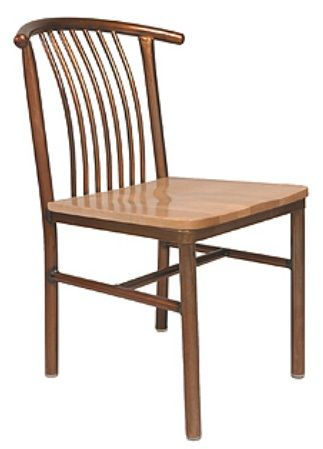 """KFI 3727-WS """"3700"""" Series Cafe Chairs with Wood Seat: Without Arms"""