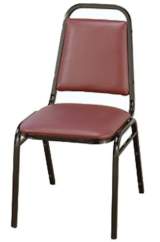 """KFI 810 """"800"""" Series 1 1/2"""" Dome Seat Stack Chair with Grade 3 Fabric, Without Arms"""