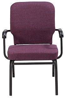 """KFI """"HTB1041"""" Series 3.5"""" Seat Stack Chair with Grade 1 Fabric, With Arms"""