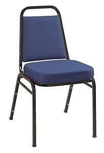 KFI IM820BK Series Stack Chair: Black Frame with Vinyl