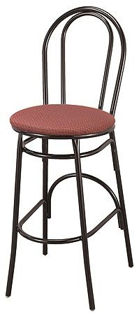 """KFI BR3210-US """"3200"""" Series Cafe Chair with Upholstered Seat"""