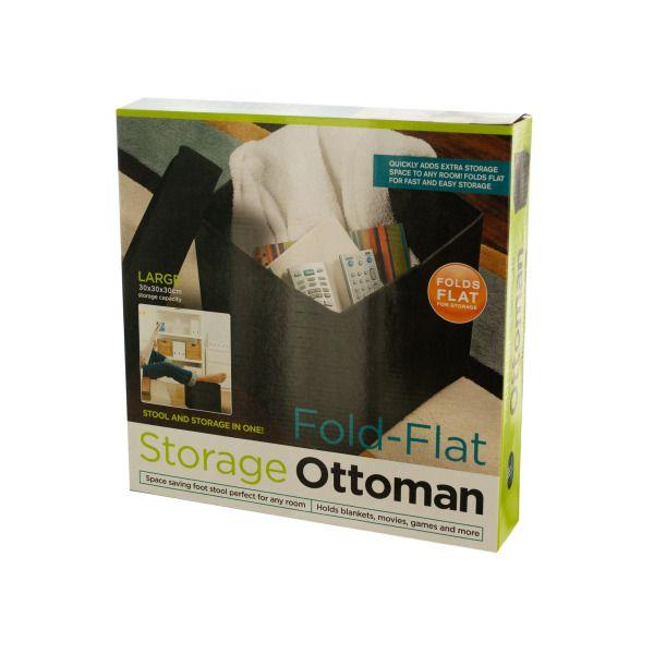 Fold-Flat Storage Ottoman