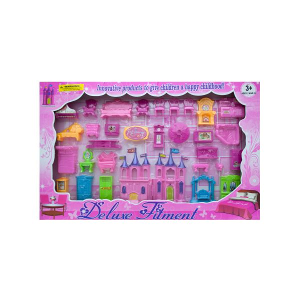 Beautiful Castle And Furniture Deluxe Play Set