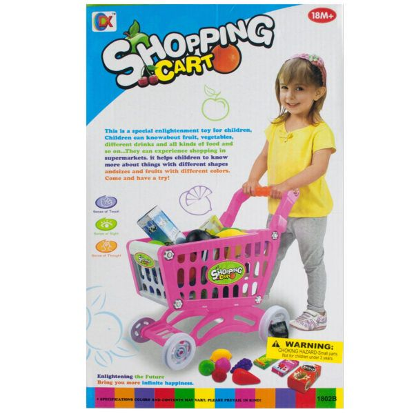 Toy Grocery Shopping Cart Set, Pack Of 2
