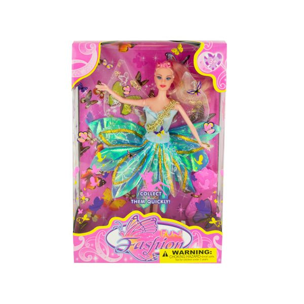 Butterfly Fairy Fashion Doll With Hairbrush
