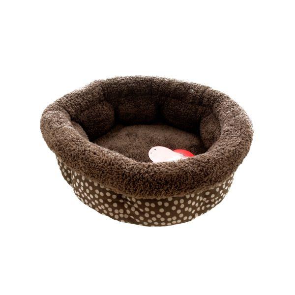 Small Polka Dot High Wall Pet Bed