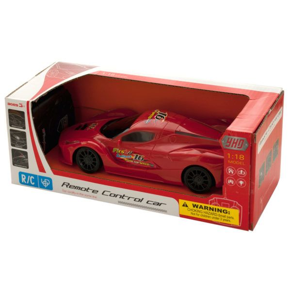 Remote Control Toy Race Car With Headlights, Pack Of 2