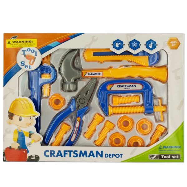 Kids' Construction Tool Play Set, Pack Of 2