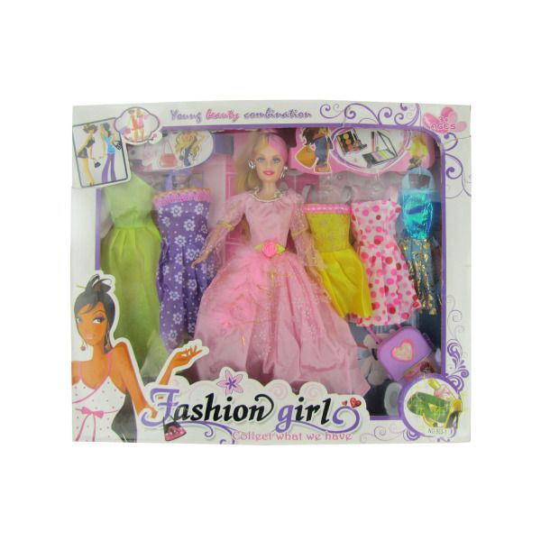 Fashion Girl Doll With Dresse