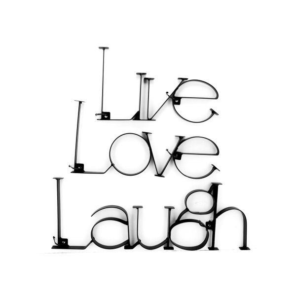 Live Love Laugh Metal Wall Plaque