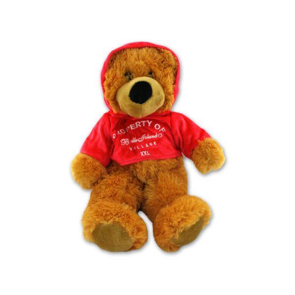 34.5 Inch Plush Bear With Hoodie