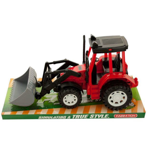 Friction Powered Toy Farm Tractor, Pack Of 2