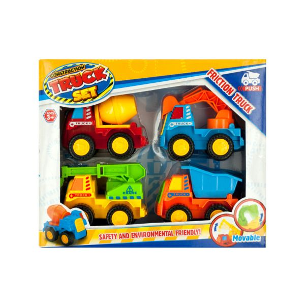 Friction Construction Truck Set, Pack Of 2