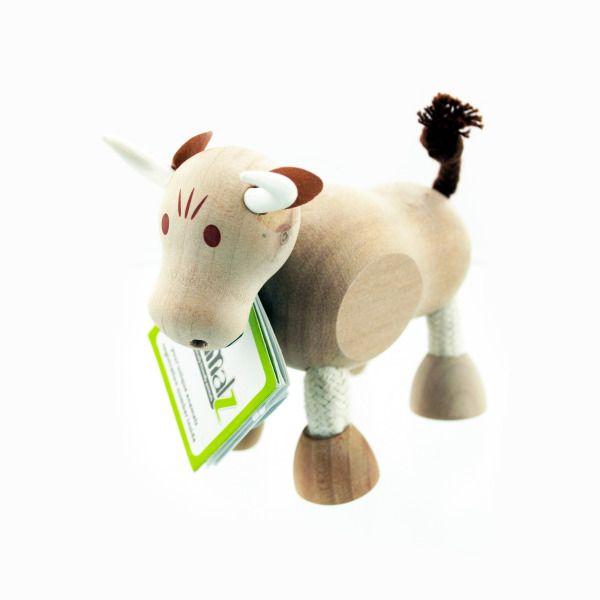 5Pk Wooden Bulls 14100