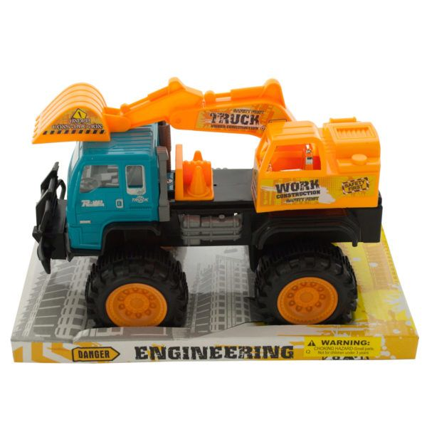 Friction Toy Construction Truck, Pack Of 2
