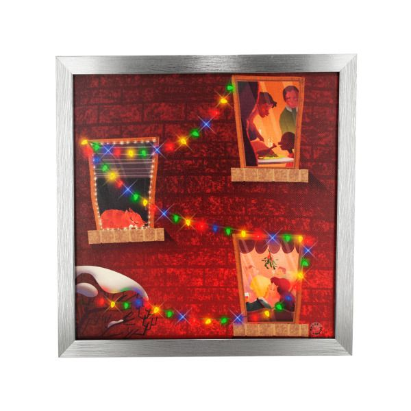 Holiday Charm Musical Light Up Art