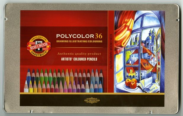 Polycolor Pencil Set, 36 Piece, Assorted Colors In A Tin