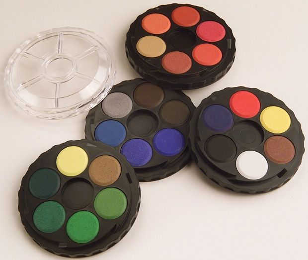 Watercolor Wheel Set, 24 Colors, Carded